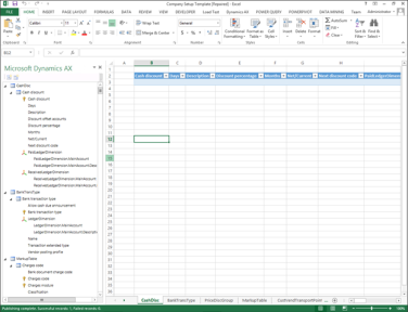 Using the Dynamics AX Excel Add-In | A Tinkerers Notebook