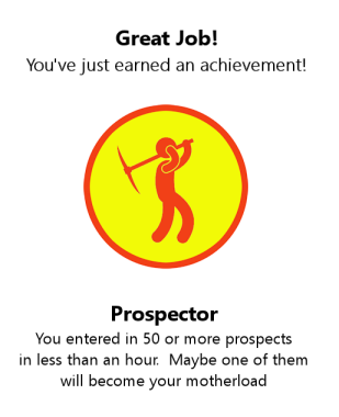 Prospector Achievement