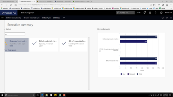 Creating a Product & BOM Import Template using the Data Management