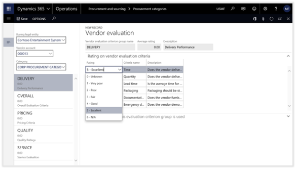 Configuring Vendor Ratings within Dynamics 365 for Operations   A